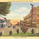 Fremont Street Las Vegas Nevada LV vintage postcard