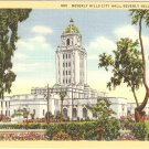 Beverly Hills City Hall  California vintage postcard