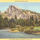 Yosemite National Park Half Dome California vintage postcard