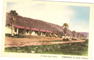 El Morro Auto Courts Ensenada Mexico vintage Baja California postcard