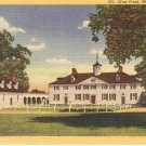 West Front Mt Vernon Virginia vintage postcard