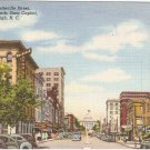 Fayetteville St Raleigh North Carolina NC vintage postcard