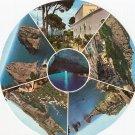 Capri Anacapri Marina Grande Circular Round Postcard Italy