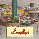 Longleys Cafeteria New York City vintage postcard