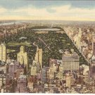 Rockefeller Center RCA Building NYC Central Park vintage postcard