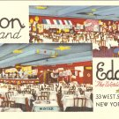 Leon & Eddie World Famous New York vintage postcard