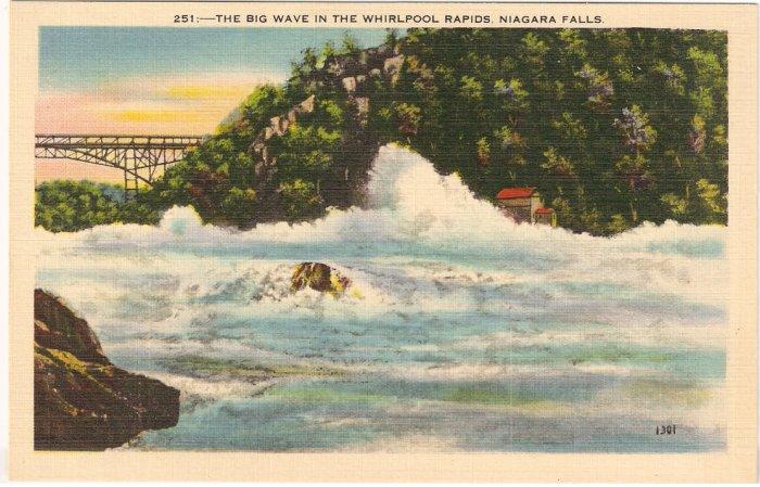 Big Wave Whirlpool Rapids Niagara Falls Vintage Postcard