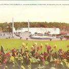 American Falls Pergola Oakes Garden Theatre Niagara Vintage Postcard