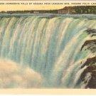 Horseshoe Falls Niagara Canadian Side Vintage Postcard