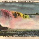 Canadian Horseshoe Falls Illumination Niagara Vintage Postcard
