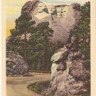 Mt Rushmore Memorial Black Hills South Dakota vintage postcard