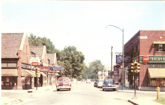 The Village Ball State Teachers College Muncie Indiana vintage postcard