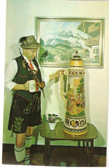 Frankenmuth Bavarian Inn Stein Michigan vintage postcard