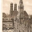 Munchen Rathaus b&w Vintage postcard Germany
