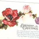 Birthday Greetings vintage postcard