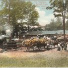 Threshers Roycroft Farm East Aurora Erie County New York vintage postcard