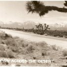 Highway Across the Desert 2305 rppc vintage postcard