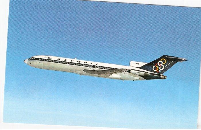 Olympic Airways Boeing 727-200  postcard