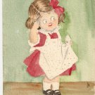 Handpainted Edith Fariday 1907 cute girl vintage postcard