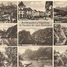 Various scenes Berchtesgaden Germany vintage postcard