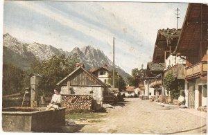 Garmisch Fruhlingstrabe Germany vintage postcard