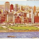 Bird's Eye View Michicagn Blvd Chicago vintage postcard