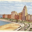 Lake Shore Drive and the Drake Chicago vintage postcard