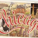 Greetings Chicago Miracle City of the Age vintage postcard