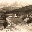 Vista of Range and Village Thompson Canon Highway vintage postcard 1948