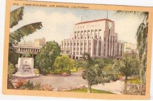 Times Building Los Angeles California vintage postcard