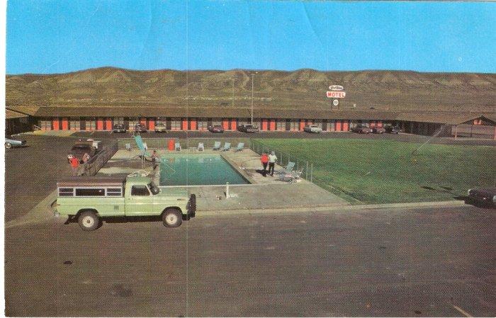 Westwinds Motel Rock Springs Wyoming vintage postcard