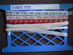 Vintage Fabric Ribbon Trim 4 designs sewing notion lace