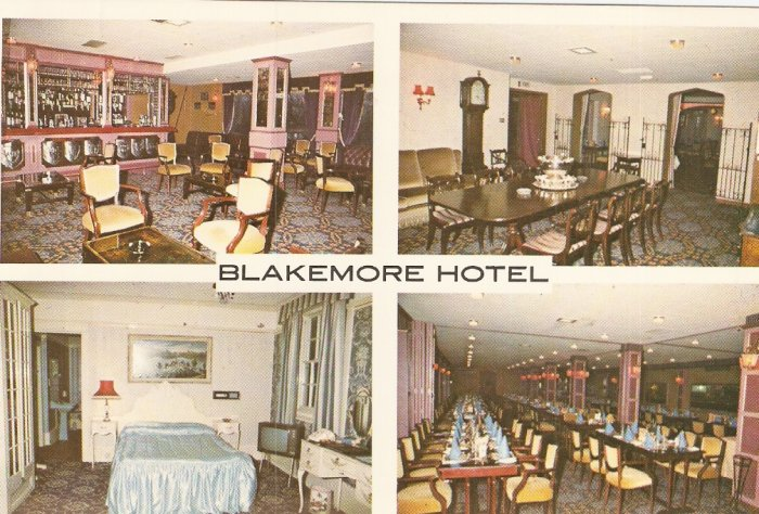 4 pic Blakemore Hotel Little Wymondley Hitchin Herts England postcard