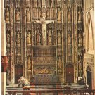 St Albans Abbey High Altar and Screen England postcard