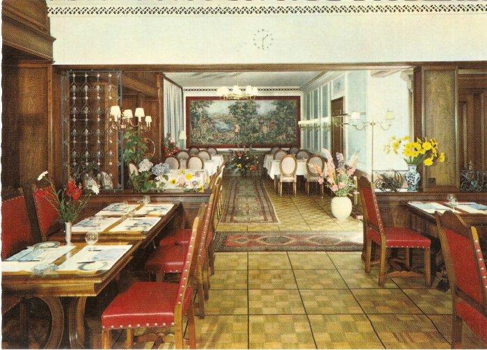 Hotel Metropol restaurant Switzerland postcard