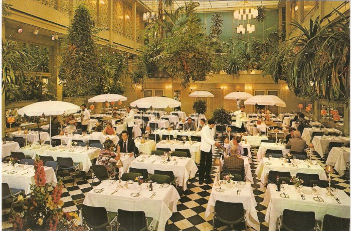 Wintergarden Restaurant Golden Tulip Hotel Amsterdam Holland Netherlands postcard