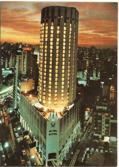 Sao Paulo Hilton Hotel Brazil postcard