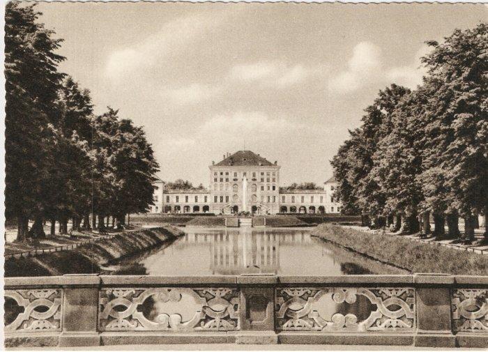 Munich Schloss Nymphenburg Munchen Schlob Germany vintage postcard