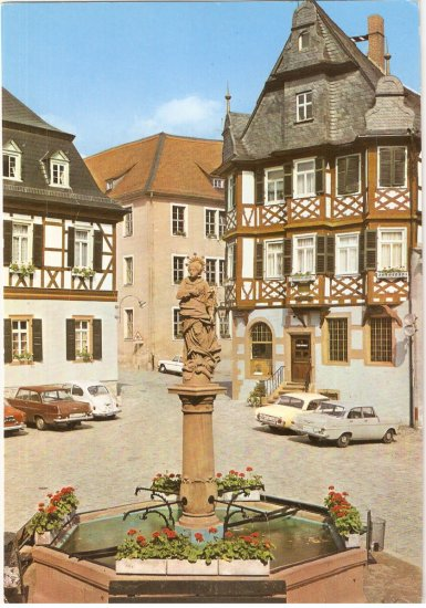 6148 Heppenheim Germany Fountain postcard