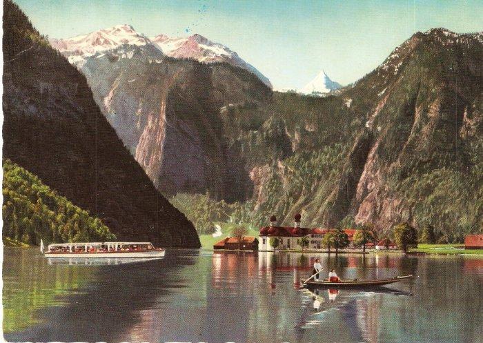 St Bartoloma mit Funtensee Grunseetauern Germany postcard