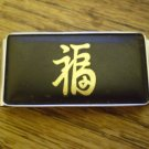 Amita Money Clip Vintage Black & Gold-tone Stainless metal