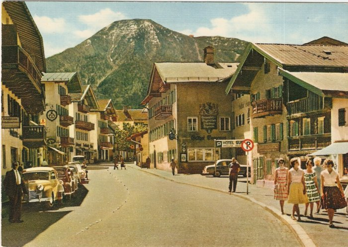 Tegernsee Hauptstrasse Germany vintage postcard Schoning