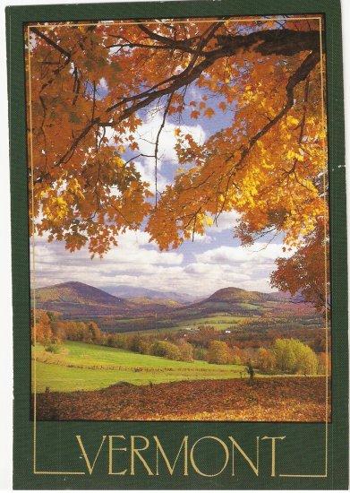 Vermont Fall From La Loma Dorado David Bast postcard