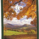 Vermont Fall From La Loma Dorado David Bast postcard