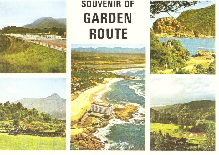 Garden Route Paul Sauer Bridge Knysna Heads Van Riebeeck South Africa vintage postcard