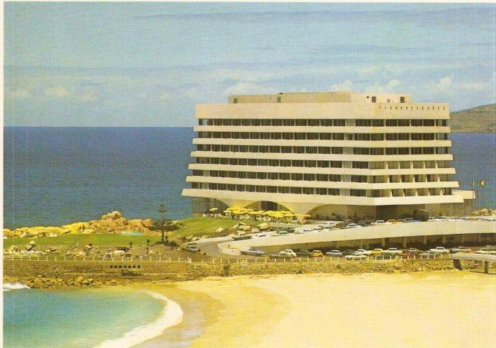 Plettenberg Bay Cape Province South Africa vintage postcard Beacon Isle Hotel