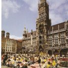 Munich Marienplatz with City Hall Germany vintage postcard