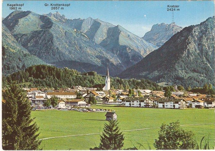 Oberstdorf Allgau Heilklimatischer Kurort mountains Germany vintage postcard