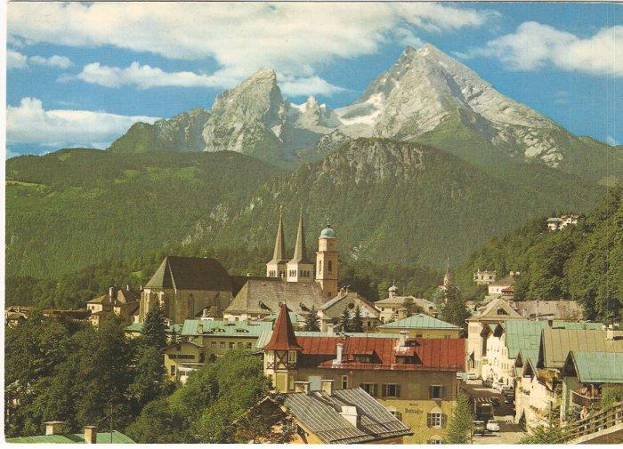 Berchtesgaden mit Watzmann Germany vintage postcard