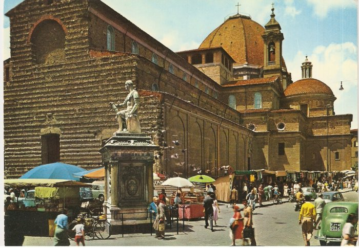 Firenze Florence Italy St Lawrence Church vintage postcard